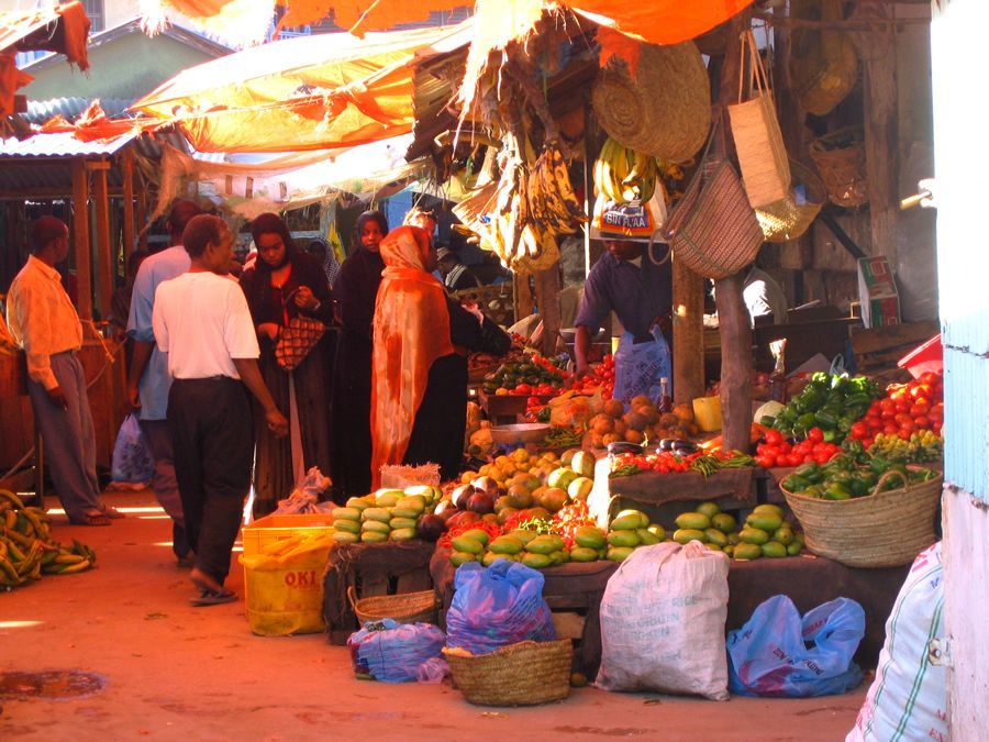 marché africain Zanzibar