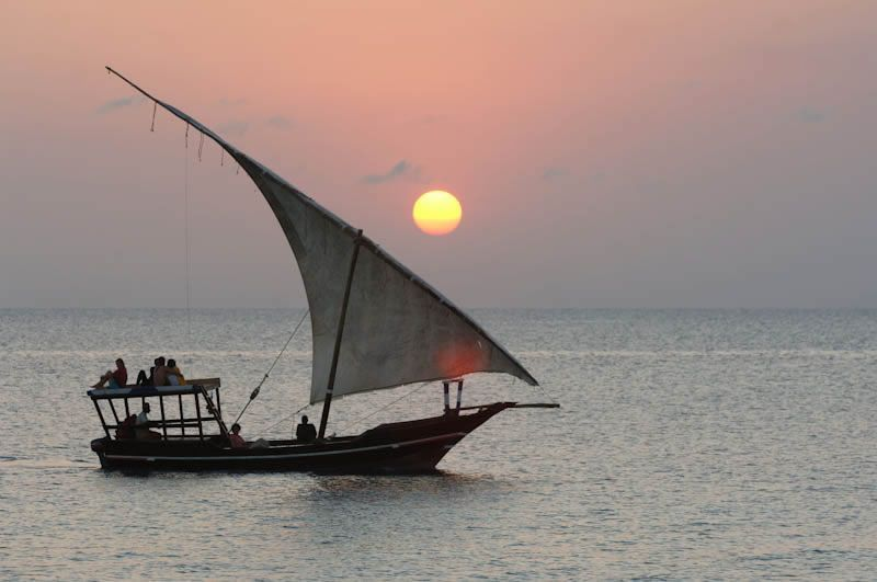 Zanzibar coucher de soleil